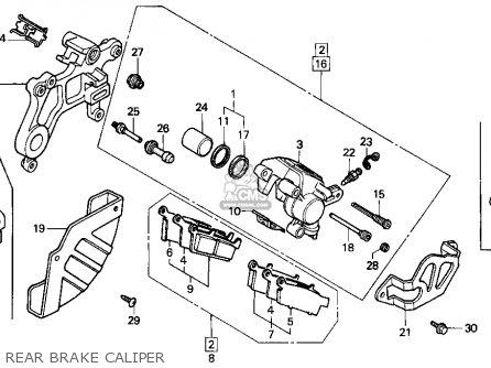 Honda Cr250r Elsinore 1991 (m) Usa parts list partsmanual