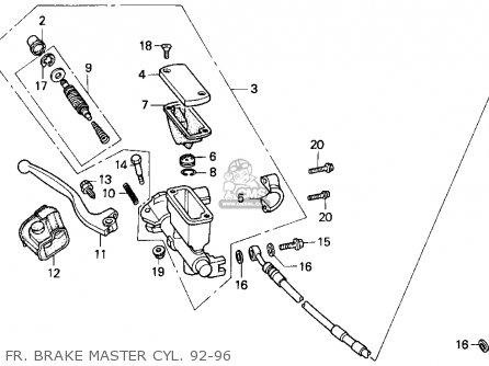 Honda Cr250r Elsinore 1992 (n) Usa parts list partsmanual