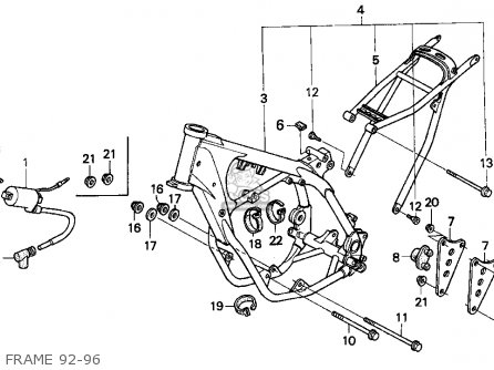 Honda CR250R ELSINORE 1992 (N) USA parts lists and schematics