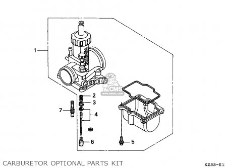 Honda CR250R ELSINORE 1993 (P) EUROPEAN DIRECT SALES parts