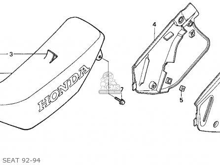 Honda Cr250r Elsinore 1993 (p) Usa parts list partsmanual