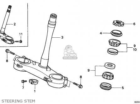 Honda CR250R ELSINORE 1994 (R) CANADA parts lists and