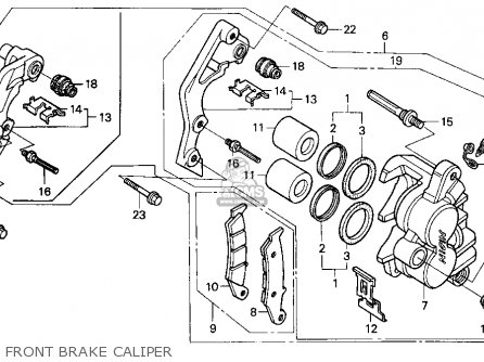 Honda CR250R ELSINORE 1994 (R) USA parts lists and schematics