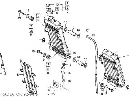 Honda CR250R ELSINORE 1994 (R) USA parts lists and schematics