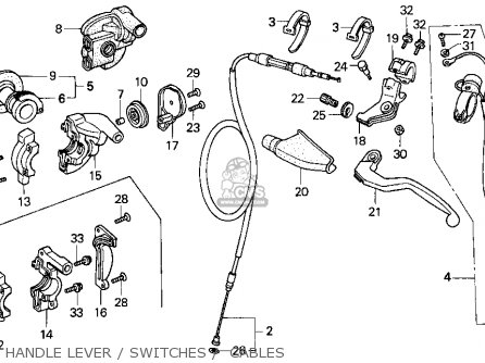 Honda CR250R ELSINORE 1995 (S) USA parts lists and schematics