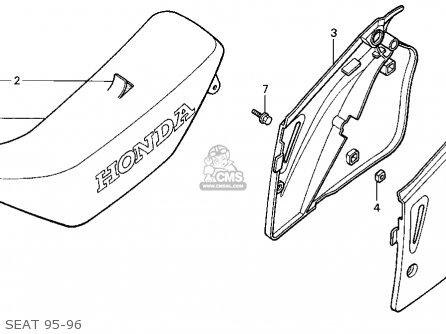 Honda Cr250r Elsinore 1995 (s) Usa parts list partsmanual