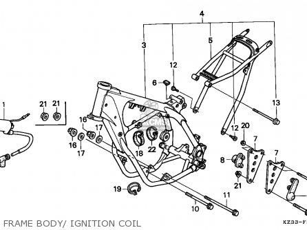 Honda Cr250r Elsinore 1996 (t) Australia parts list