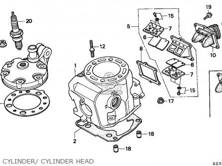 Honda CR250R ELSINORE 1996 (T) EUROPEAN DIRECT SALES parts