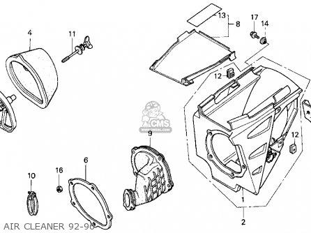 Honda CR250R ELSINORE 1996 (T) USA parts lists and schematics