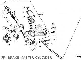 Honda CR250R ELSINORE 1997 (V) USA parts lists and schematics