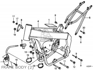 Honda CR250R ELSINORE 1998 (W) CANADA CMF parts lists and