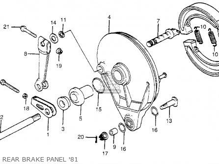 Honda CR450R ELSINORE 1981 (B) USA parts lists and schematics