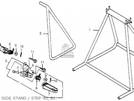 Honda Cr480r 1982 (c) Usa parts list partsmanual partsfiche