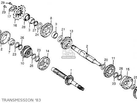 Honda CR480R 1983 (D) USA parts lists and schematics