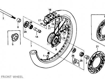 Honda CR500R 1984 (E) USA parts lists and schematics