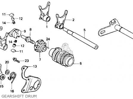 Honda Cr500r 1984 (e) Usa parts list partsmanual partsfiche