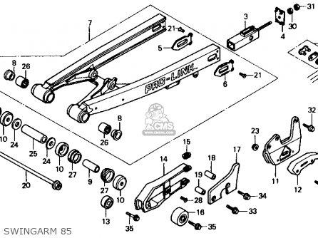 Honda Cr500r 1985 (f) Usa parts list partsmanual partsfiche