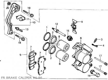 Honda Cr500r 1986 Usa parts list partsmanual partsfiche