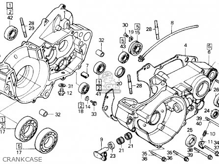Honda CR500R 1987 (H) USA parts lists and schematics