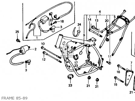 Honda Cr500r 1987 (h) Usa parts list partsmanual partsfiche