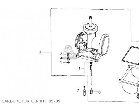 Honda Cr500r 1987 Usa parts list partsmanual partsfiche