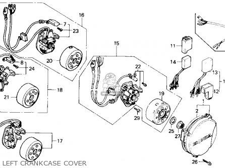 Honda Cr500r 1989 (k) Usa parts list partsmanual partsfiche