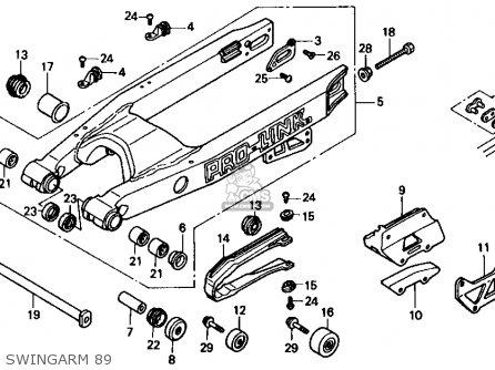 Honda CR500R 1989 (K) USA parts lists and schematics