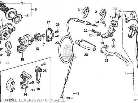 Honda CR500R 1990 (L) AUSTRALIA parts lists and schematics