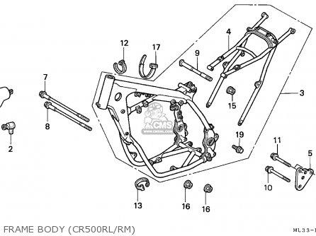 Honda Cr500r 1990 (l) European Direct Sales / Cmf parts