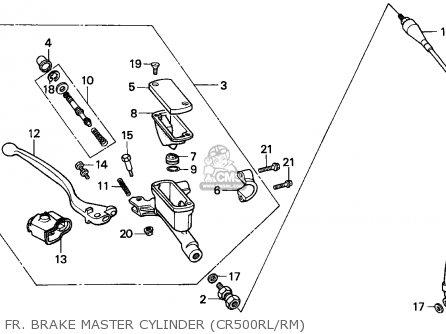Honda CR500R 1990 (L) SWEDEN / CMF parts lists and schematics
