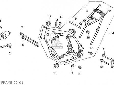 Honda Cr500r 1990 Usa parts list partsmanual partsfiche