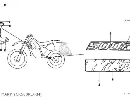 Honda Cr500r 1991 (m) Sweden parts list partsmanual partsfiche
