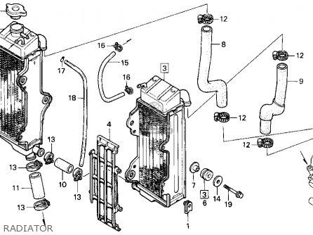 Honda Cr500r 1991 Usa parts list partsmanual partsfiche