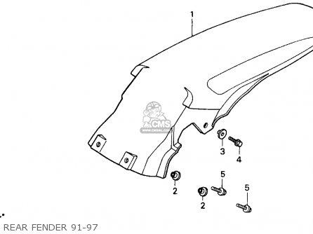 Honda CR500R 1992 (N) USA parts lists and schematics
