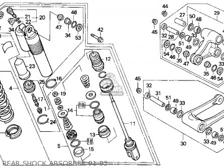 Honda CR500R 1992 (N) USA parts lists and schematics
