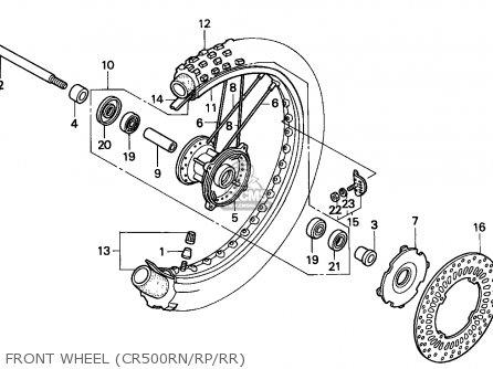 Honda CR500R 1994 (R) EUROPEAN DIRECT SALES / CMF parts