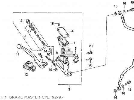 Honda CR500R 1994 (R) USA parts lists and schematics