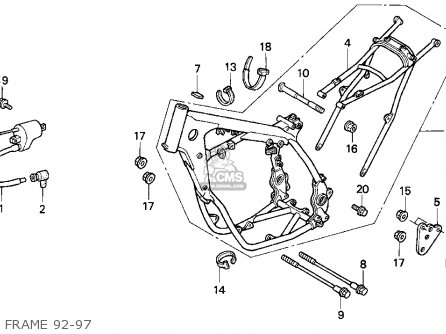 Honda CR500R 1994 (R) USA parts lists and schematics