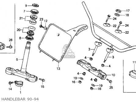 Honda Cr500r 1994 (r) Usa parts list partsmanual partsfiche