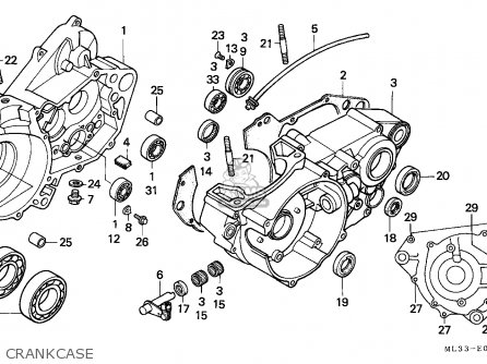 Honda Cr500r 1995 (s) Australia parts list partsmanual