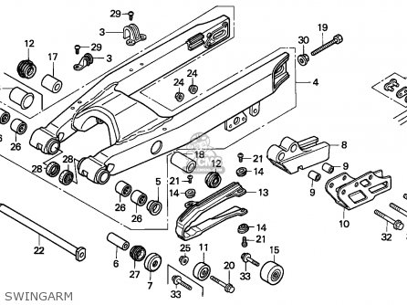 Honda Cr500r 1995 (s) European Direct Sales / Cmf parts
