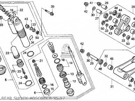 Honda CR500R 1997 (V) USA parts lists and schematics