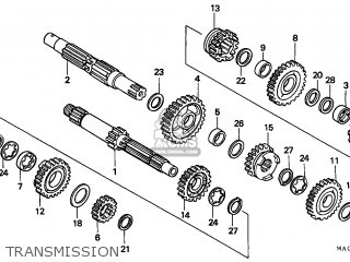 Honda CR500R 1998 (W) CANADA CMF parts lists and schematics