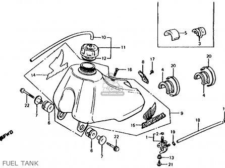 Honda Cr60r1 1983 (d) Usa parts list partsmanual partsfiche