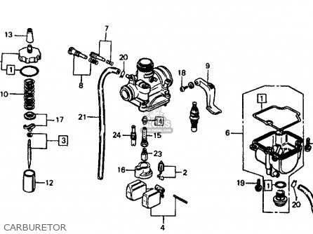 Honda CR60R2 1984 (E) USA parts lists and schematics
