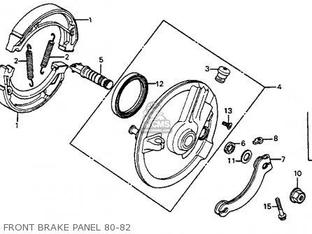 Honda CR80R 1980 (A) USA parts lists and schematics