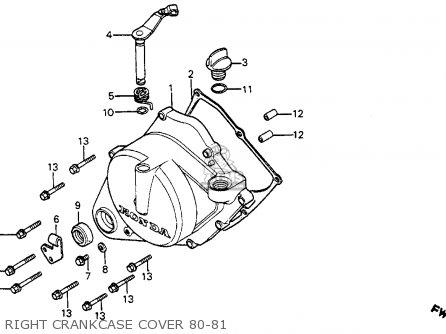 Honda Cr80r 1981 (b) Usa parts list partsmanual partsfiche