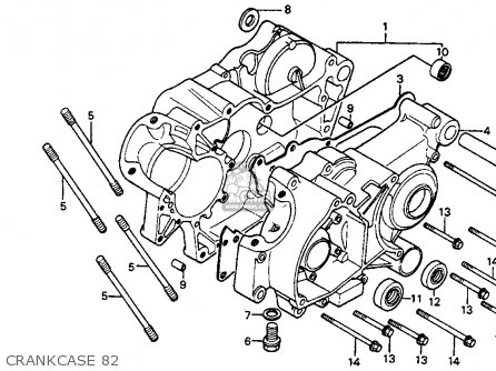 Honda Cr80r 1982 Usa parts list partsmanual partsfiche