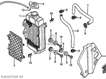Honda Cr80r 1983 (d) Usa parts list partsmanual partsfiche