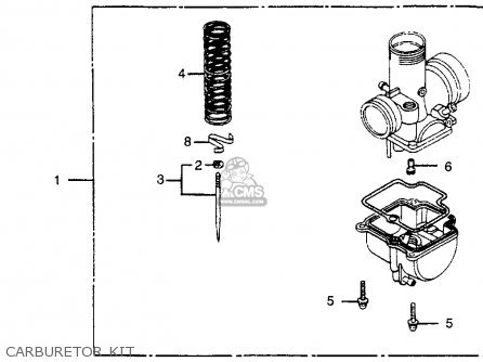 Honda Cr80r 1984 (e) Usa parts list partsmanual partsfiche